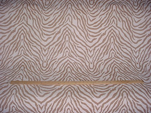107RT10 - Velvety Soft Brown / Cream Tiger Zebra Stripe Chenille To the Trade / Designer Upholstery Drapery Fabric - By the Yard