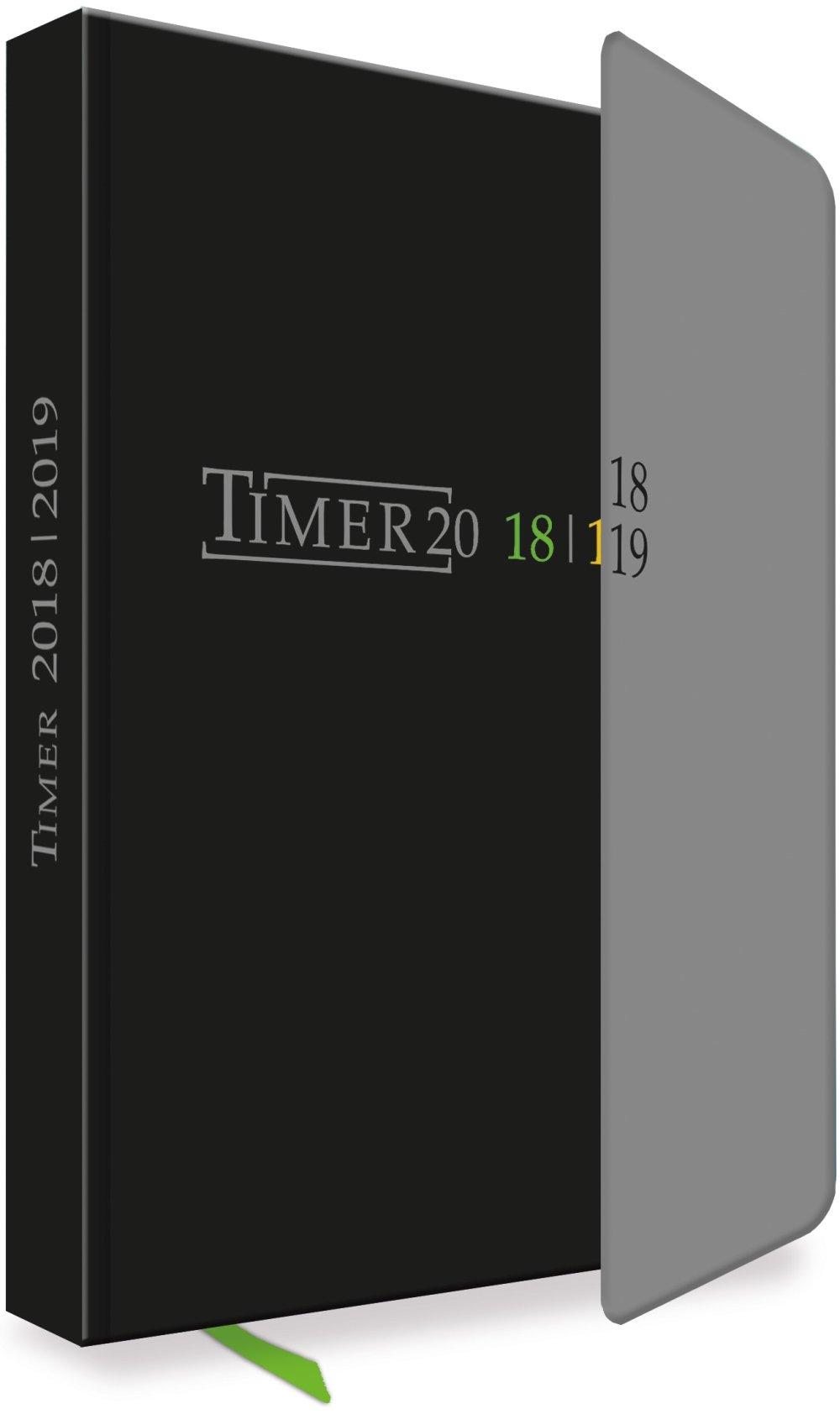 Schülerkalender Black 2018/2019 - Schulplaner, Schülerplaner: Timer mit Magnet-Klappe und Lesebändchen