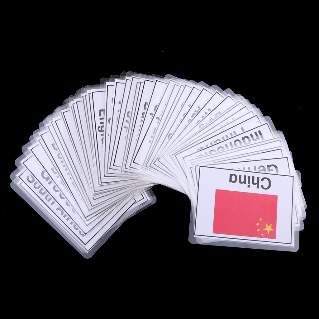 80 pz Animale F Fityle Flash Card per Bambini in et/à Prescolare per Bambini Carta Cognitiva Pocket Flash Card
