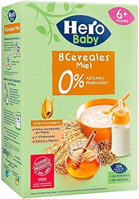 Hero Babynatur - 8 Cereales Miel 500 g