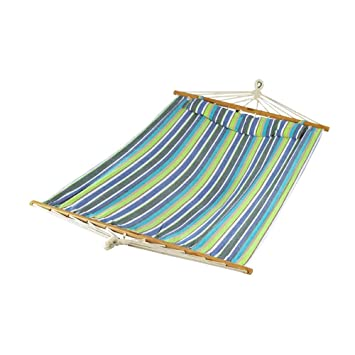 bliss hammocks oversized hammock with spreader bars and pillow candy stripe amazon     bliss hammocks oversized hammock with spreader bars      rh   amazon