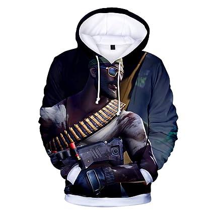 LBZD Moda 3D Sudaderas Impresas con Capucha Divertida suéter gráfico Sudaderas con Capucha con Bolsillos Grandes