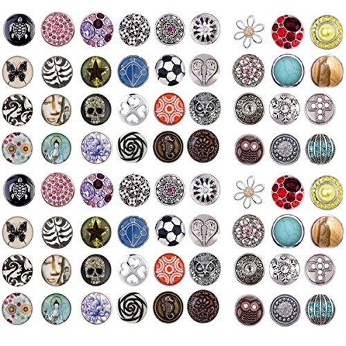 AKKi jewelry Akki Chunks Magnet Kette für druckknöpfe Amsterdam Schmuck Anhänger Chunk knöpf für Damen Halskette Armband Druckknopf Charms Click Button Träger Schwarz Braun 50cm