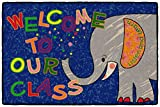 Flagship Carpets CE146-14W Welcome Mat - Class Elephant, Multi