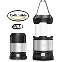 HiHiLL USB Rechargeable Camping Lantern Flashlight