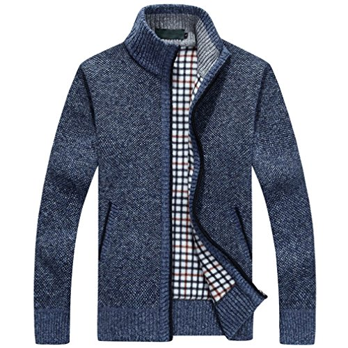 PUTAOJIAZI Long Sleeve Wool Cardigan Men Sweater Jacket Casu