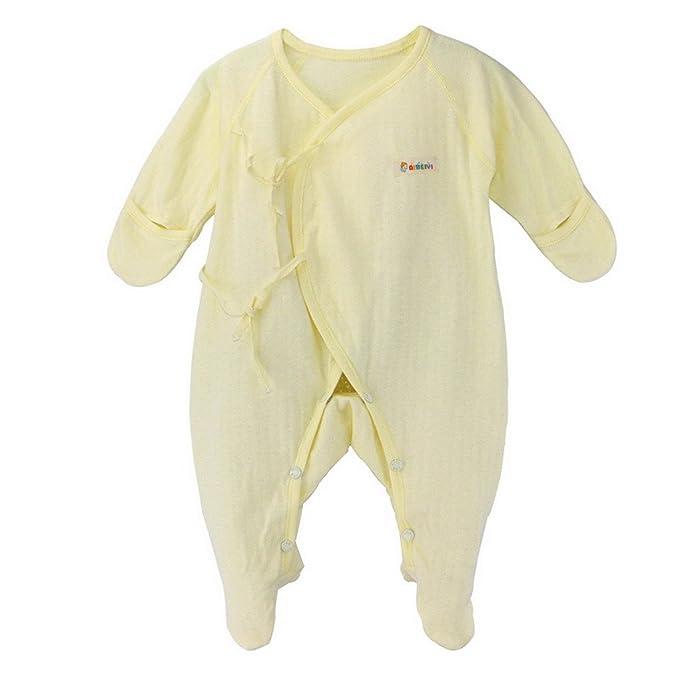 Unisex Pijama Ropa de Dormir overal para bebé Pelele de Manga Larga Body con Cuerda: Amazon.es: Ropa y accesorios