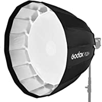 Godox P120H 120cm Deep Parabolic Soft Box with Bowens Mount Adapter Ring for Aperture (Black)