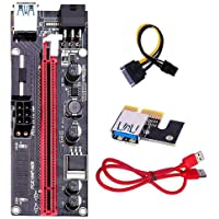 6-24x PCI-E Riser Card PCIe 1x to 16x USB 3.0 Data Cable Bitcoin Mining VER009S