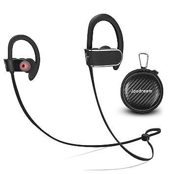 Jpodream - Auriculares para correr, cancelación de ruido, Bluetooth, excelente calidad de sonido, impermeabilidad, inalámbricos, con micrófono integrado: ...