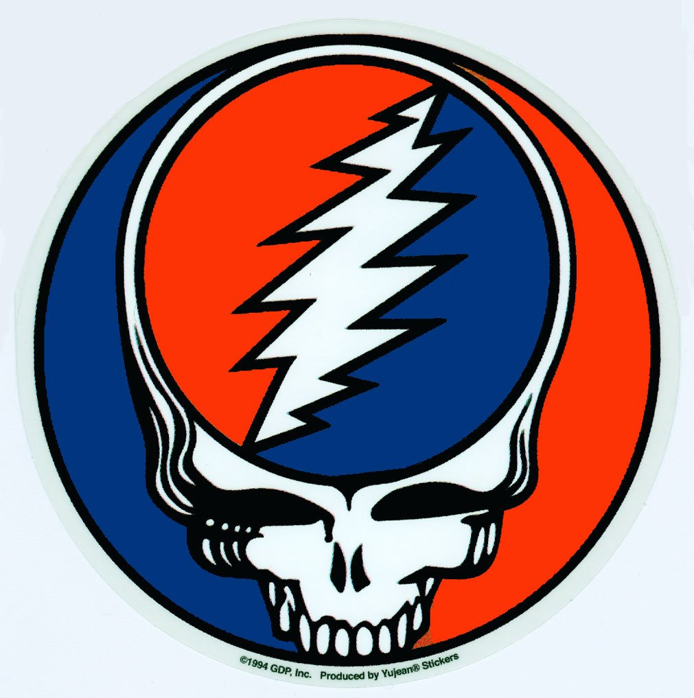 GDP Inc - Steal Your Face 1976 Album Grateful Dead decalcomania Sticker - 5' x 5' - Weather Resistant, Long Lasting for Any Surface Grateful Dead / GDP Inc. 1-DCD-40000