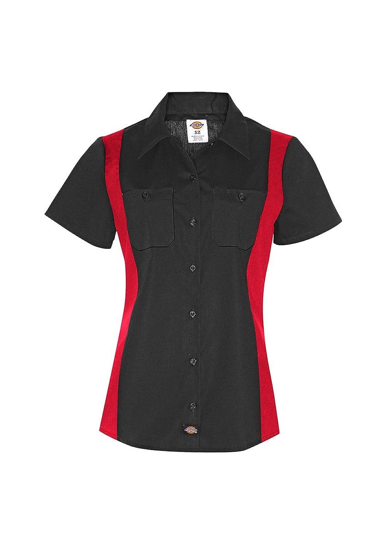 Dickies - FS524 Womens Short Sleeve Industrial Color Block Shirt, Large, Black