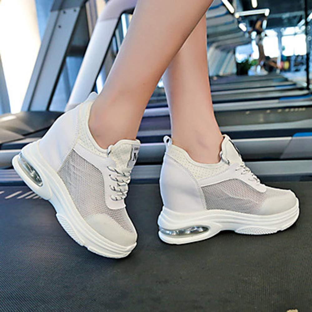 TTSchuhe Damen Schuhe Gitter/PU Frühling Sommer Runde Komfort Sneakers Walking Creepers Runde Sommer Zehe Weiß/Orange / Grün Weiß 0b6dba