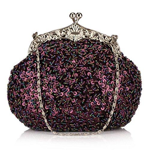 Embrayage Sac Perles Violet Vieux De Shanghai Paillettes Mariée Diamant Mesdames Ergeob® Soirée q6IPvwtw