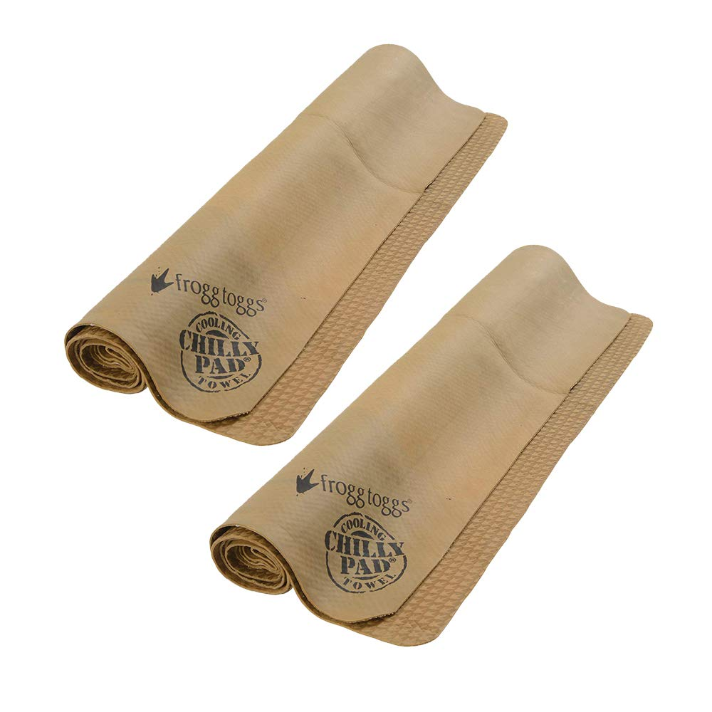 Frogg Toggs Chilly Pad Cooling Towel, Sand, Size 33'' x 13'' (2 Pack)