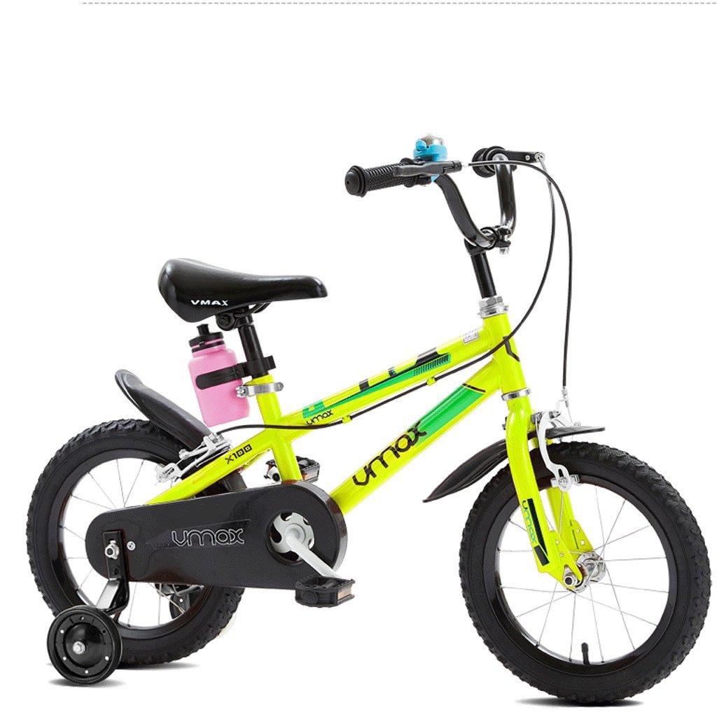 子供の自転車の男の子3歳から12歳の児童ベビーベビーカーの自転車 (色 : 緑, サイズ さいず : 14 inches) B07D554Z9W 14 inches 緑 緑 14 inches
