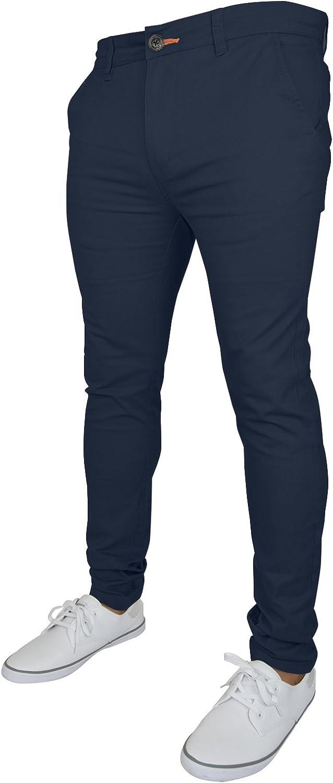 westAce Pantalones Chinos Ajustados para Hombre