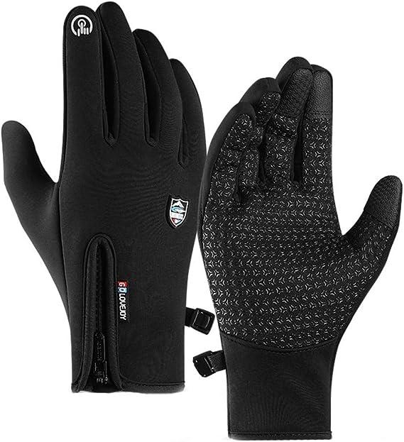 screen Winter Warm Cycling Bicycle Bike Ski Silica Waterproof Gloves Hiking