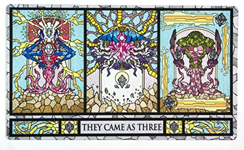 Stained Glass Titans Card Playmat - Inked Gaming / Inked Playmats / Perfect for MtG Pokemon & YuGiOh Magic the Gathering TCG Game - Stained Glass Card