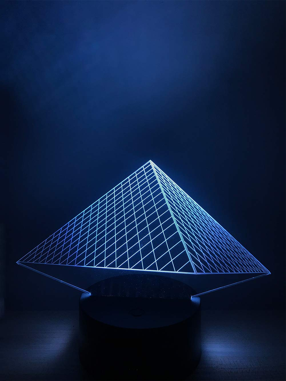 AWLIET Pyramid 3D Optical Illusion Creative Night Light, Colorful Color Touch USB Power Supply, Home Decoration/Gift / Sleep Aid Lamp