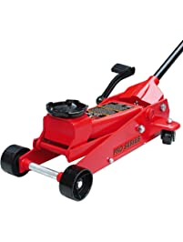 Torin Big Red Quick Lift Heavy Duty Floor Jack with Foot Pedal: Single Piston Pump, 3.5 Ton Capacity