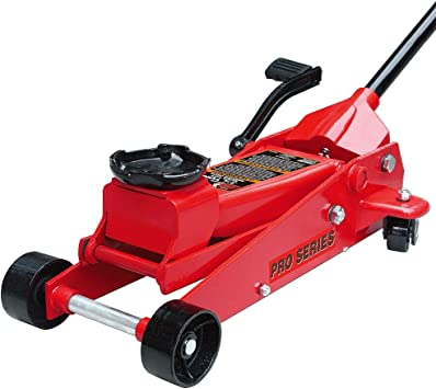 3.5 Ton Capacity Single Piston Pump Torin Big Red Quick Lift Floor Jack with Foot Pedal