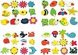 RHX 24pcs Novelty Animals Wooden Fridge Magnet Sticker Cute Funny Refrigerator Toy