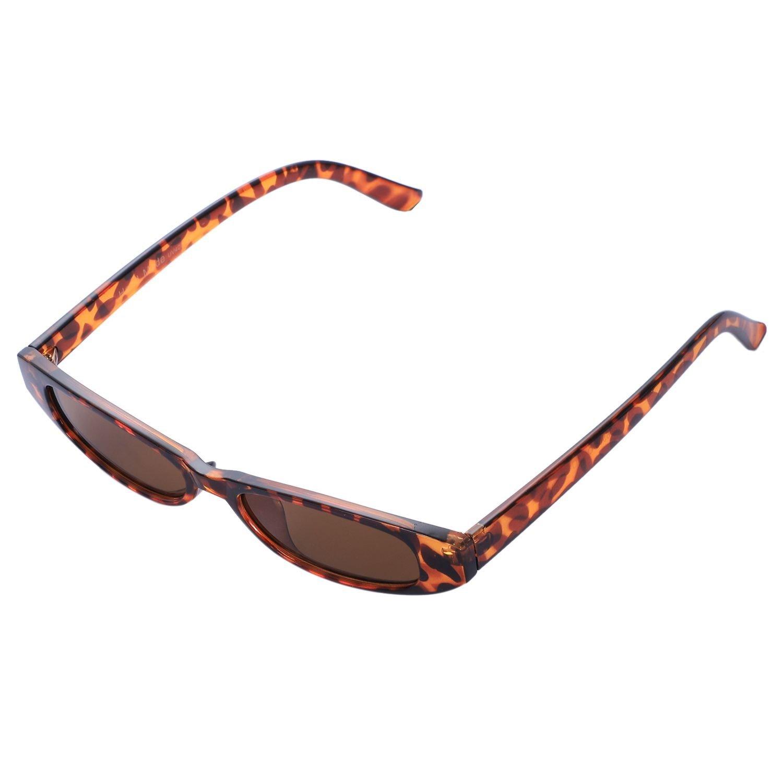 SODIAL Gafas de sol pequenas de ojo de gato Mujeres Gafas de ...