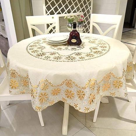 SXCDD Mantel Redondo De PVC,Hotel Familia Plástico Impermeable ...