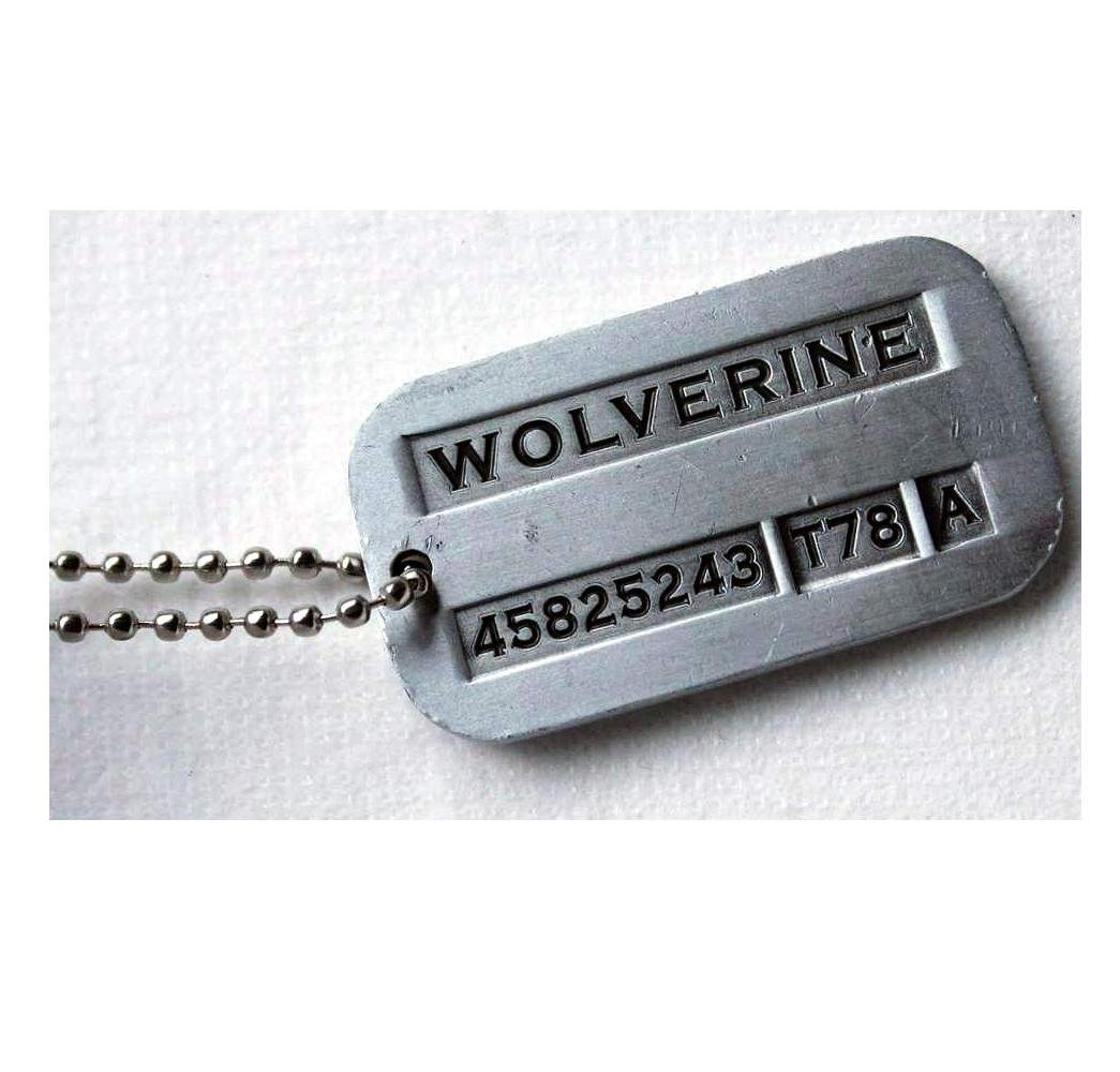 Tojwi Male Cool Kpop X-Men Wolverine Necklace Vintage Weapon-X Dog Tags Pendant - Fashion Design: Beauty
