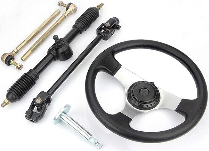 Kart Lenkradaufnahme verstellbar silber lang Lenkrad steering whell hub