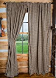 Black and Tan Checkered Panel - Set of 2