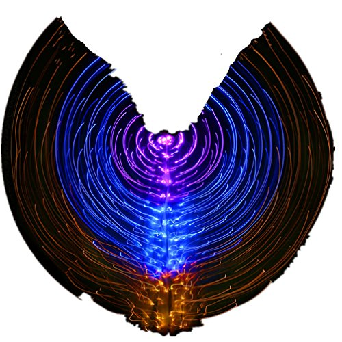 2018 Cool Cosplay/Halloween Dance Costumes Lighting up LED Angel Belly Dance ISIS Wings#3(Not Contain (Cool Costumes Halloween 2017)
