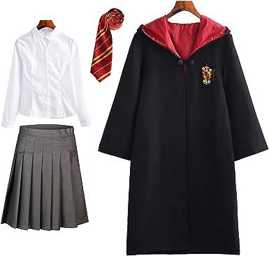 DJSJ- Harry Potter - Disfraz Infantil de Hermione para Mujer, Capa ...