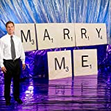 2 ft. 6 in. Scrabble Tile Will You Marry Me Set Standup Photo Booth Prop Background Backdrop Party Decoration Decor Scene Setter Cardboard Cutout