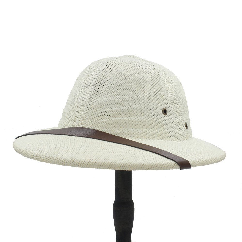 for Ladies Hats Novelty Toquilla Stubble Helmet Pith Sun Hats for Men Vietnam War Army Hat Dad Boater Bucket