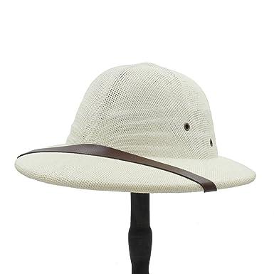 22405e5d CNBEAUM Men Novelty Toquilla Straw Helmet pith Sun Hats Dad Boater Bucket  Hats Safari Jungle Miners