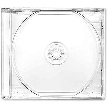 Caja CD o DVD 10,4 mm, 25 unidades, con bandeja transparente pack de 25: Amazon.es: Electrónica