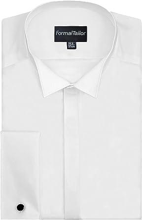 Camisa de Boda para Hombre con Cuello de ala, Manga ...