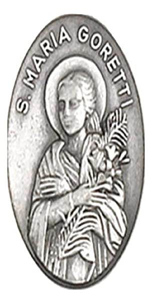St. Maria Goretti Medal: Amazon.co.uk: Sports & Outdoors