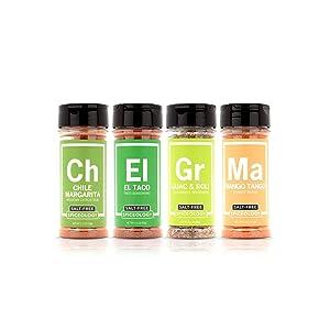 Spiceology - Mexican Street Foods Salt Free Seasoning 4 Pack - Spices and Seasonings