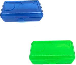 Sterilite Plastic Pencil Box, One per Order, Assorted Colors, Color May Vary,