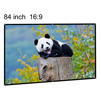 Projection Screen Portable 84 Inch 16 9 Diagonal Portable Diy Indoor Outdoor Movie Projector Screen Hd Wall Mounted Home Cinema Theater Screen Matte