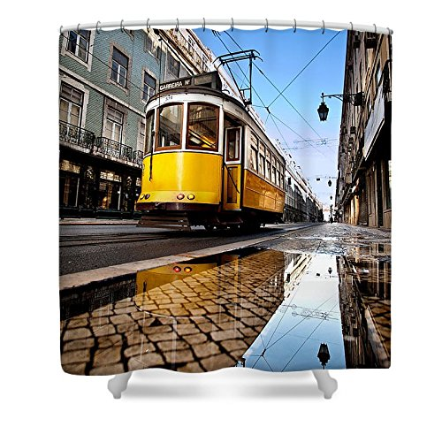 Pixels Shower Curtain (74'' x 71'') ''Mirror'' by Pixels