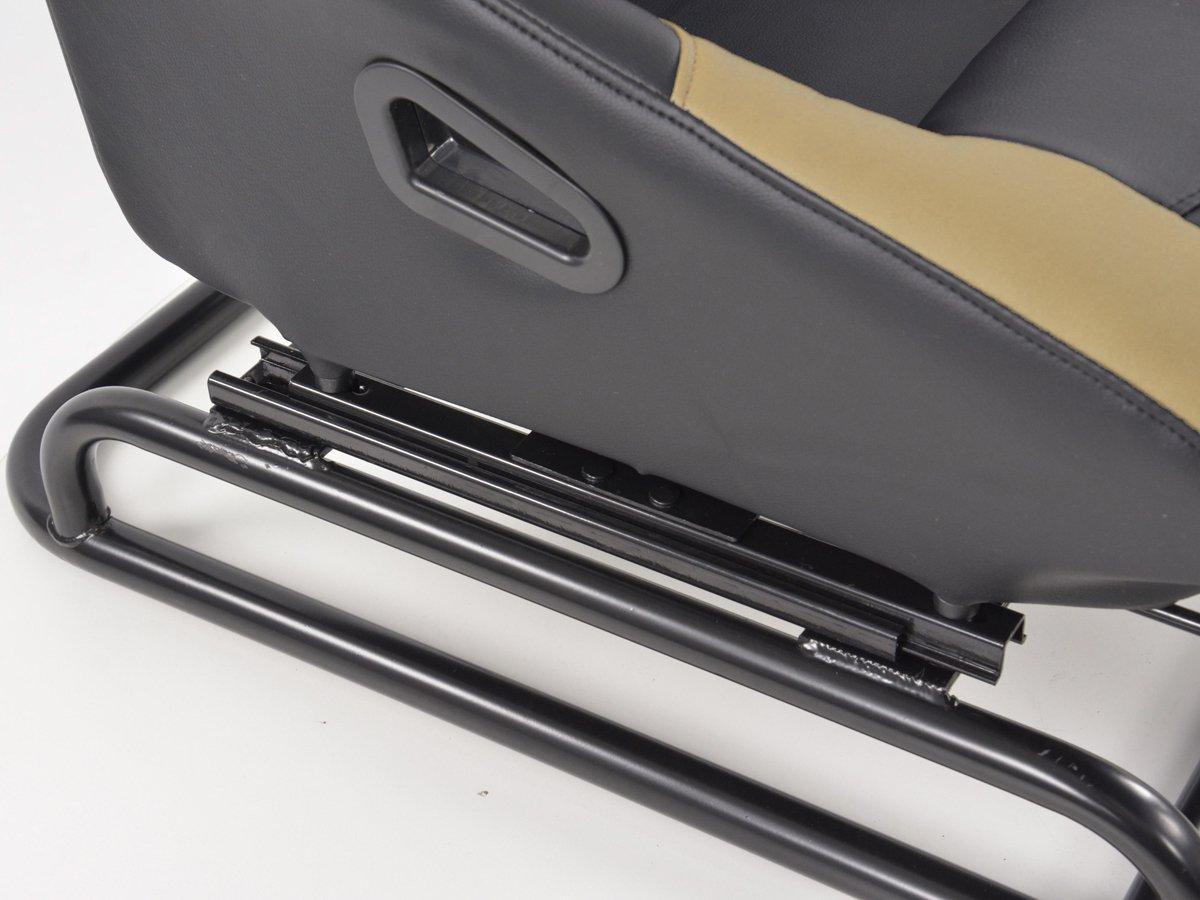 Rennsimulationssitz Gamer f/ür PC und Spielekonsolen Kunstleder schwarz//beige
