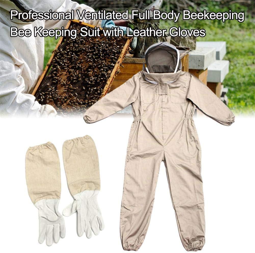L//XL//XXL Professioneller Imkeranzug Bel/üftet Baumwolle Bienenzucht Anzug Bee Schutzanzug Mit Schutzhandschuhe Exuberanter Imker Anzug