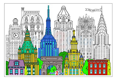 New York City Giant Wall Size Coloring Poster - 32.5