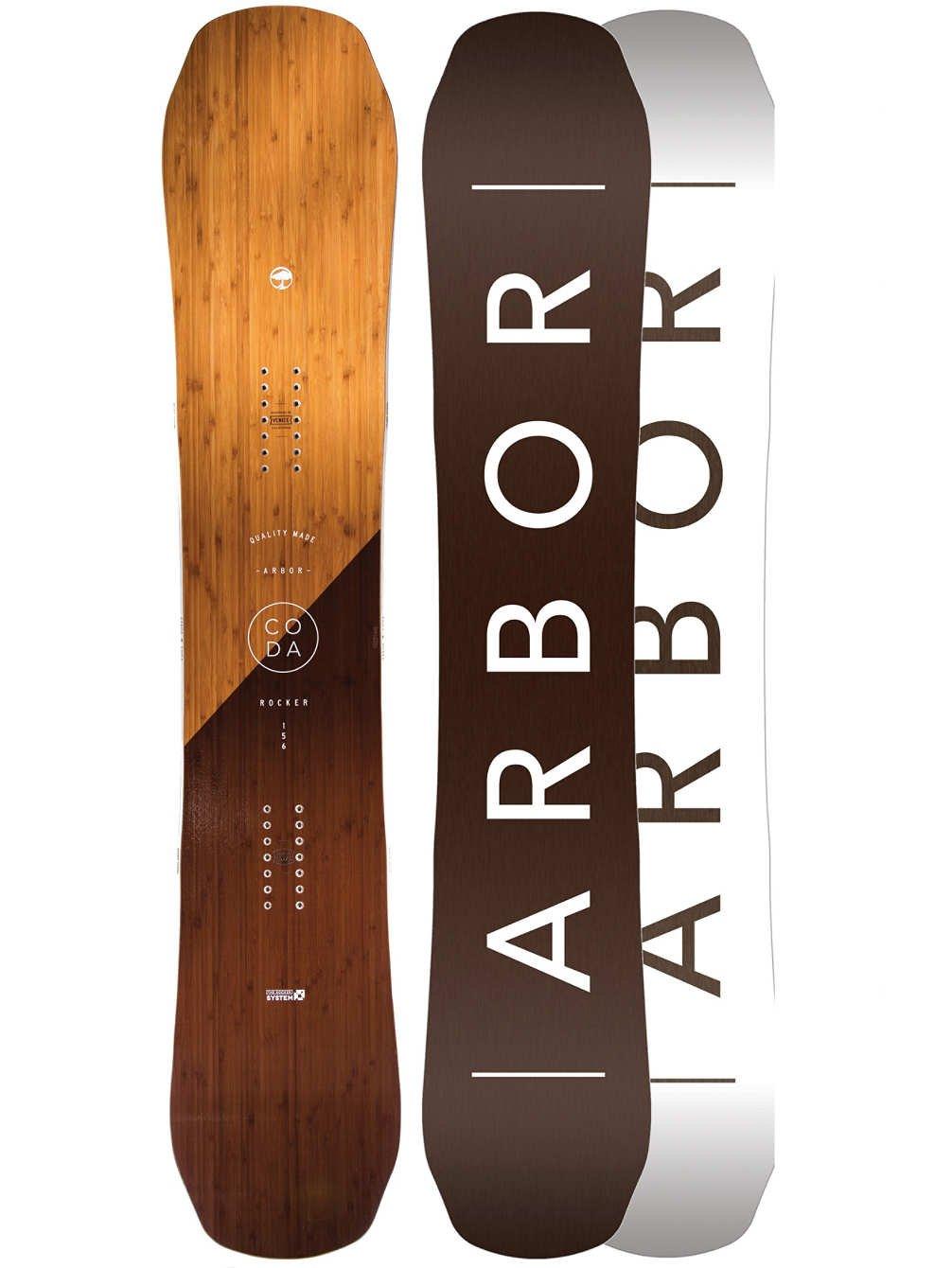 Arbor Coda Rockerスノーボードメンズ B073524MZ1  ブラウン 158
