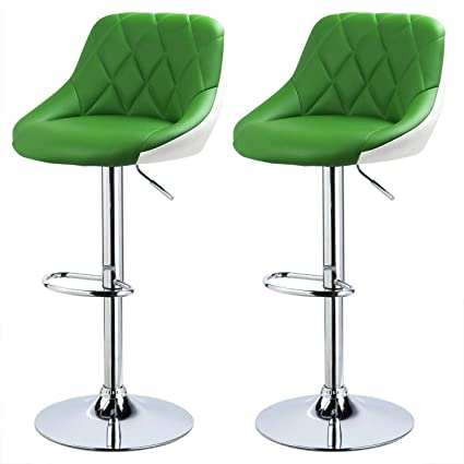 Admirable Llivekit Kitchen Stools Set Of 2 Faux Leather Adjustable Swivel Gas Lift Bar Stool For Breakfast Bar Counter Kitchen And Home Barstools Machost Co Dining Chair Design Ideas Machostcouk