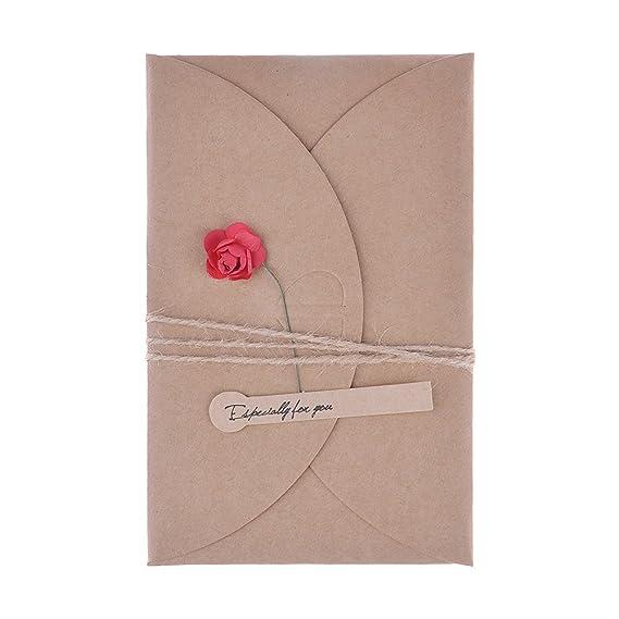 Amazon huntgold vintage diy kraft paper greeting card flower amazon huntgold vintage diy kraft paper greeting card flower envelope with hemp rope birthday wedding christmas giftenvelope 105x71cm m4hsunfo